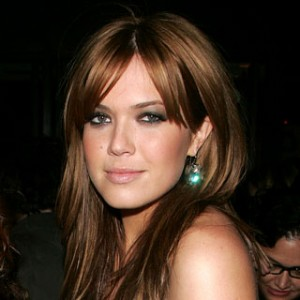 long layered hairstyles for round faces with bangs:
