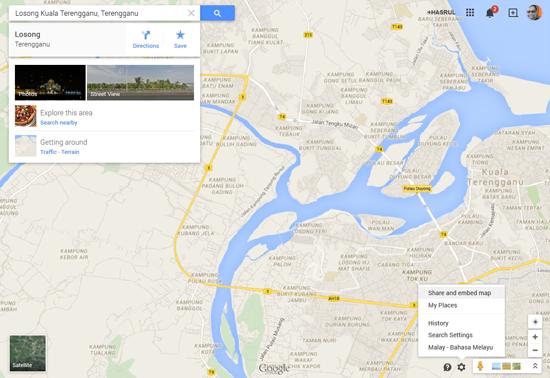 Cara Letakkan Peta Google Map dalam Entri Blog