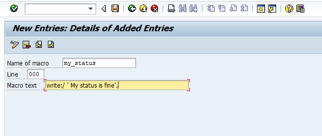 how to create entries in sm30 with transport request