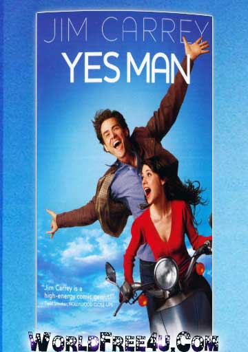 Poster Of Yes Man (2008) In Hindi English Dual Audio 300MB Compressed Small Size Pc Movie Free Download Only At worldfree4u.com