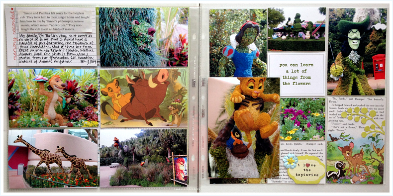 Project Life, Project Mouse, Epcot, topiaries - Disney inspired memory keeping | www.anyhappylittlethoughts.com