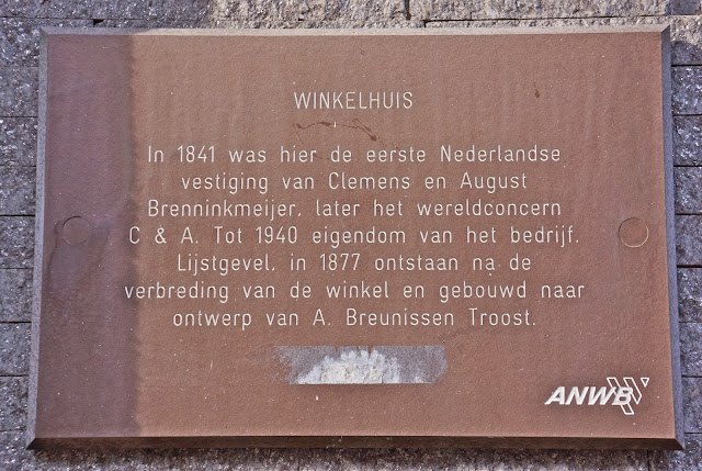 The plaque on the first C&A shop in Sneek, the Netherlands.