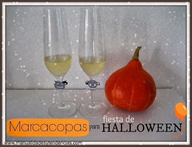 Marca copas para fiesta Halloween / Halloween glass markers / Marqueur de verres pour Halloween