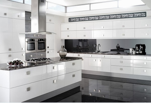simple kitchen design white shiny home inspirations