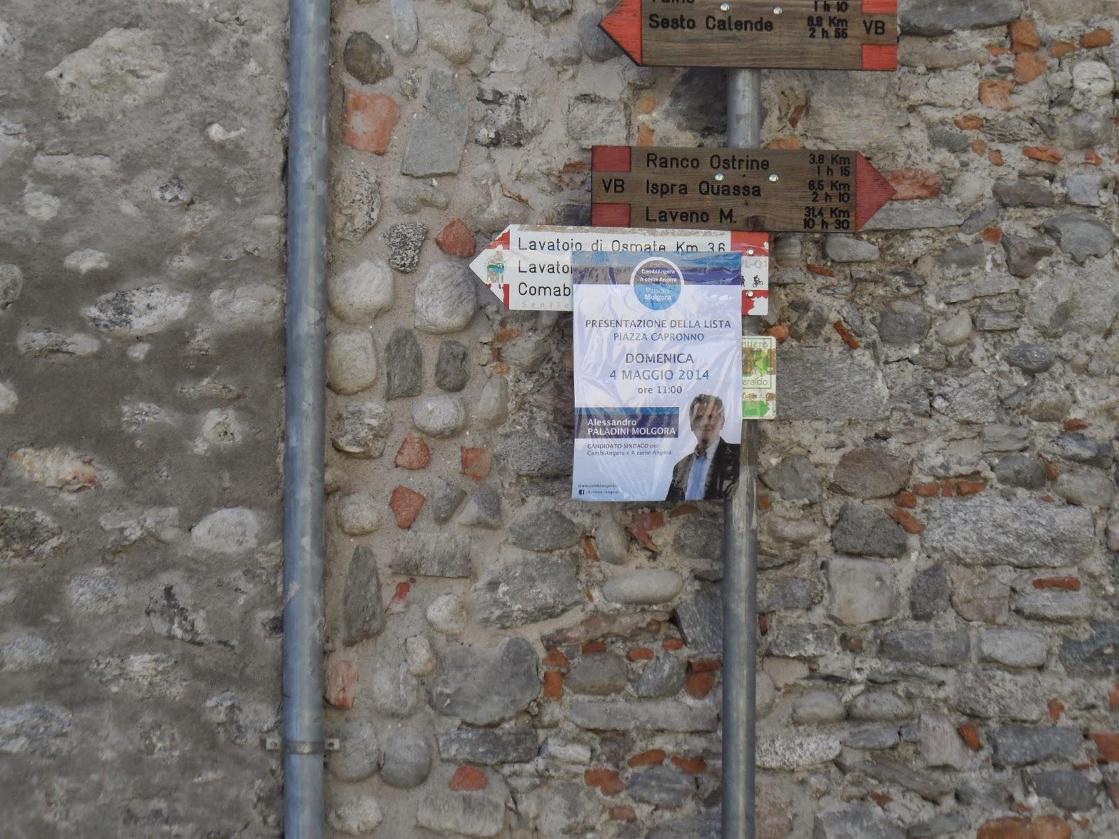 materiale di propaganda e manifesti attinenti le elezioni al di fuori degli spazi assegnati per la propaganda elettorale