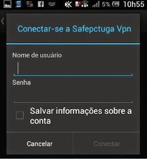 adicionar perfil vpn no android