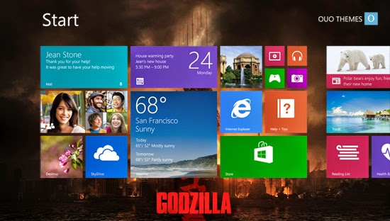 Godzilla 2014 Theme For Windows 7 And 8 8.1