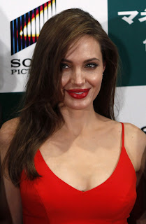 Angelina Jolie red dress 2013