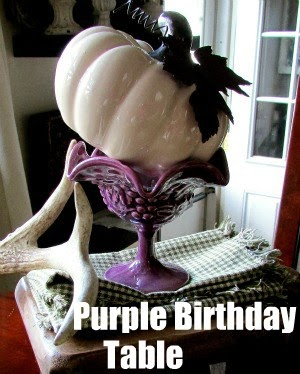 Purple Birthday Table