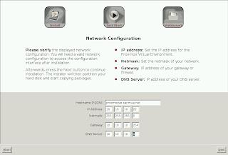 Konfigurasi jaringan Proxmox 2.3