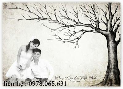 tranh in dấu vân tay ngày cưới,vẽ tranh in dấu vân tay đám cưới