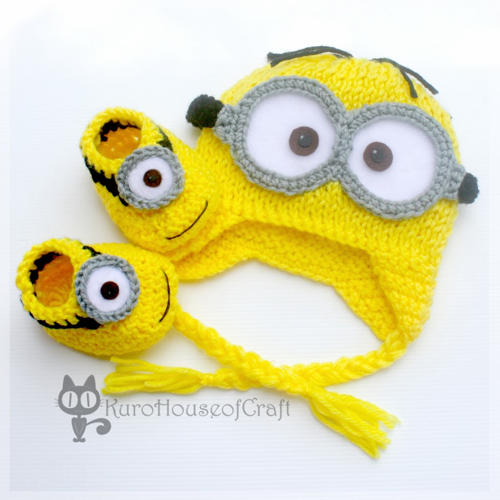 Minion baby hat dave booties lance dave minion baby hat