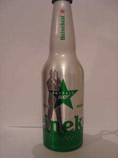 HEINEKEN ALUMINIUM BEER BOTTLE JAMES BOND 007 SKYFALL LIMITED EDITION EMPTY