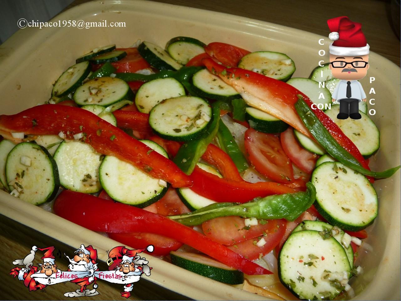 Cocina con paco panga al horno con verduras - Verduras rellenas al horno ...