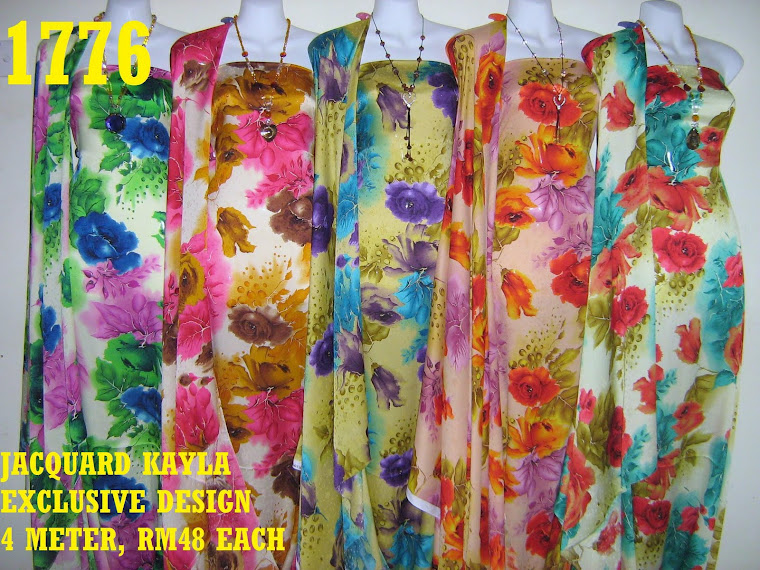 JK 1776: JACQUARD KAYLA EXCLUSIVE DESIGN, 4 METER, 5 COLORS