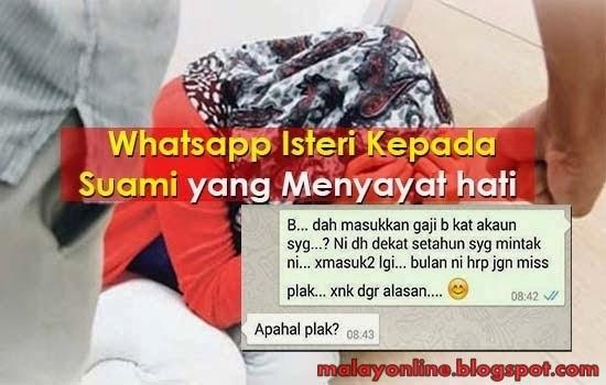 WhatsApp Mengejutkan Suami Isteri Ini Bikin Sayu Pulak