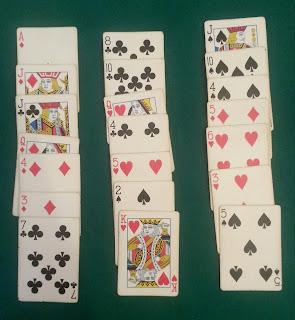 come indovinare una carta, metodo dei tre mazzetti