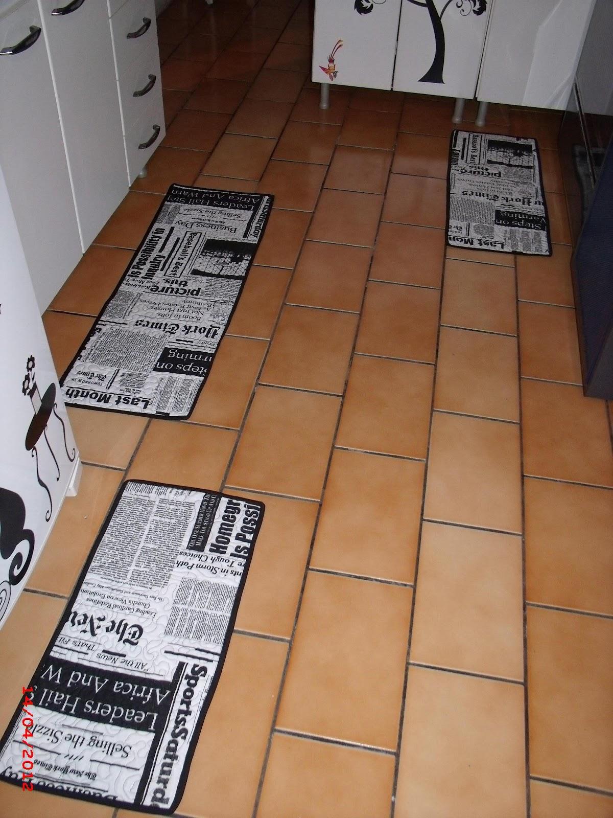 Tapete Patchwork Simples : Cria??es Artesanato: Jogo de tapetes para cozinha….
