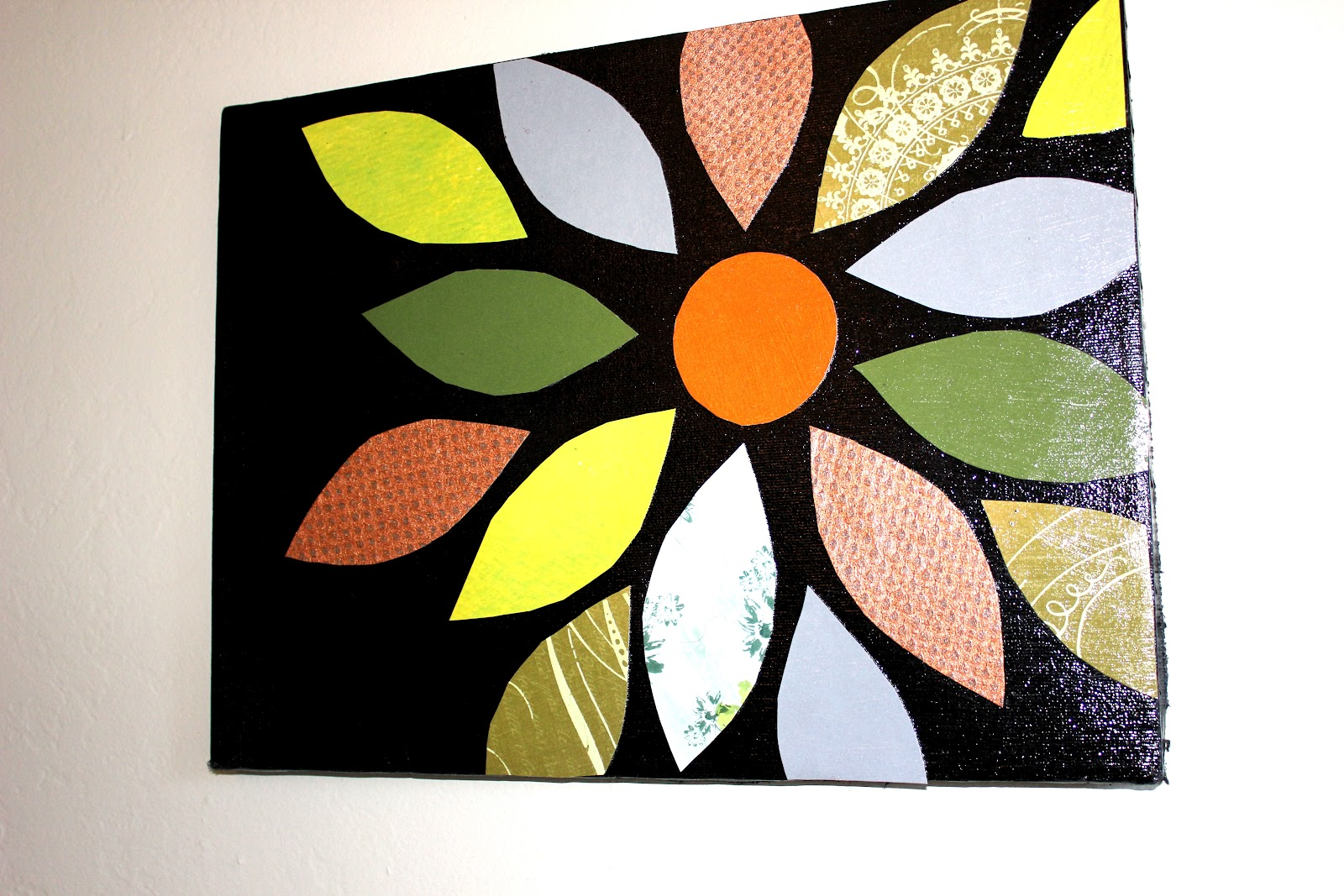 Scrapbook Flower Canvas