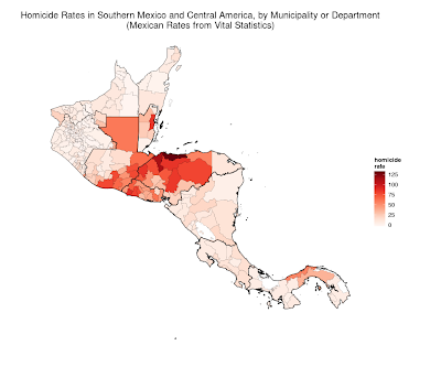 Violence along Mexico's Southern Border and Central America