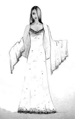 Desenhos Para Colori Roupas de princesa     desenhar