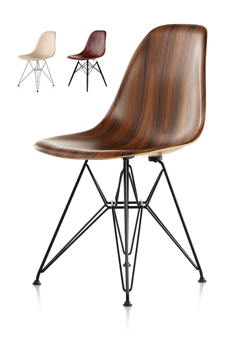 Wooden chairs design classics - If It S Hip It S Here Archives Herman Miller Updates An Eames Classic With Wood The New Molded Wood Eames Chair