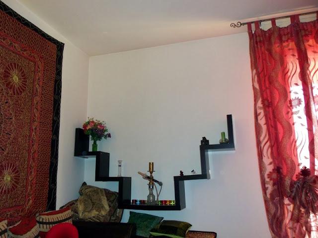 Alternative assembling hanging of lack zig zag shelves for Miroir zig zag ikea