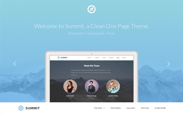 Premium One Page Responsive Theme