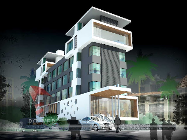 Architectural Photorealistic hotel design,3d Architectural Animation