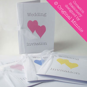 Organza ribbon wedding invitation