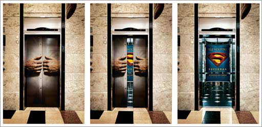 Here are a couple ex&les of elevator door advertising from several brands and companies. & Daisy Mendoza: Elevator Advertising