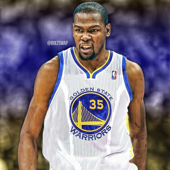 Kevin Durant Golden State Warriors Jersey #35