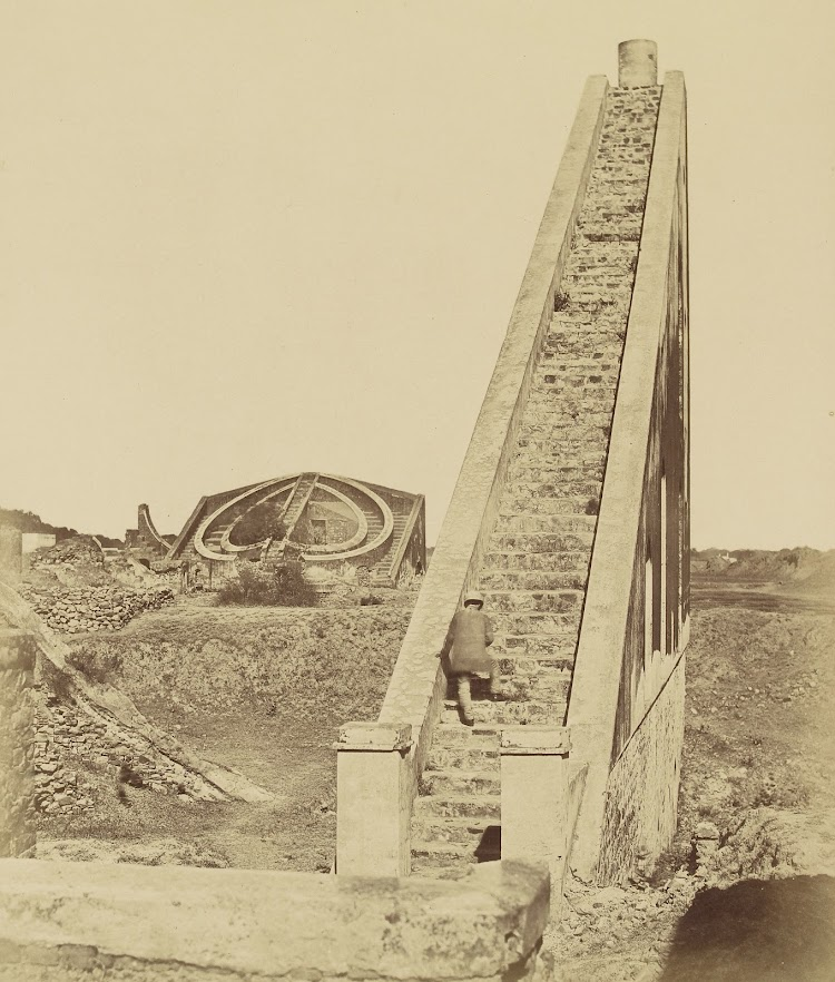 The Jantar Mantar Observatory - Delhi c1858