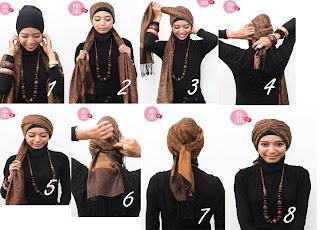 cara memakai jilbab kreasi modern
