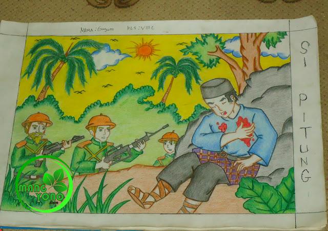 Kakak Gugum : Tugas menggambar dari sekolah