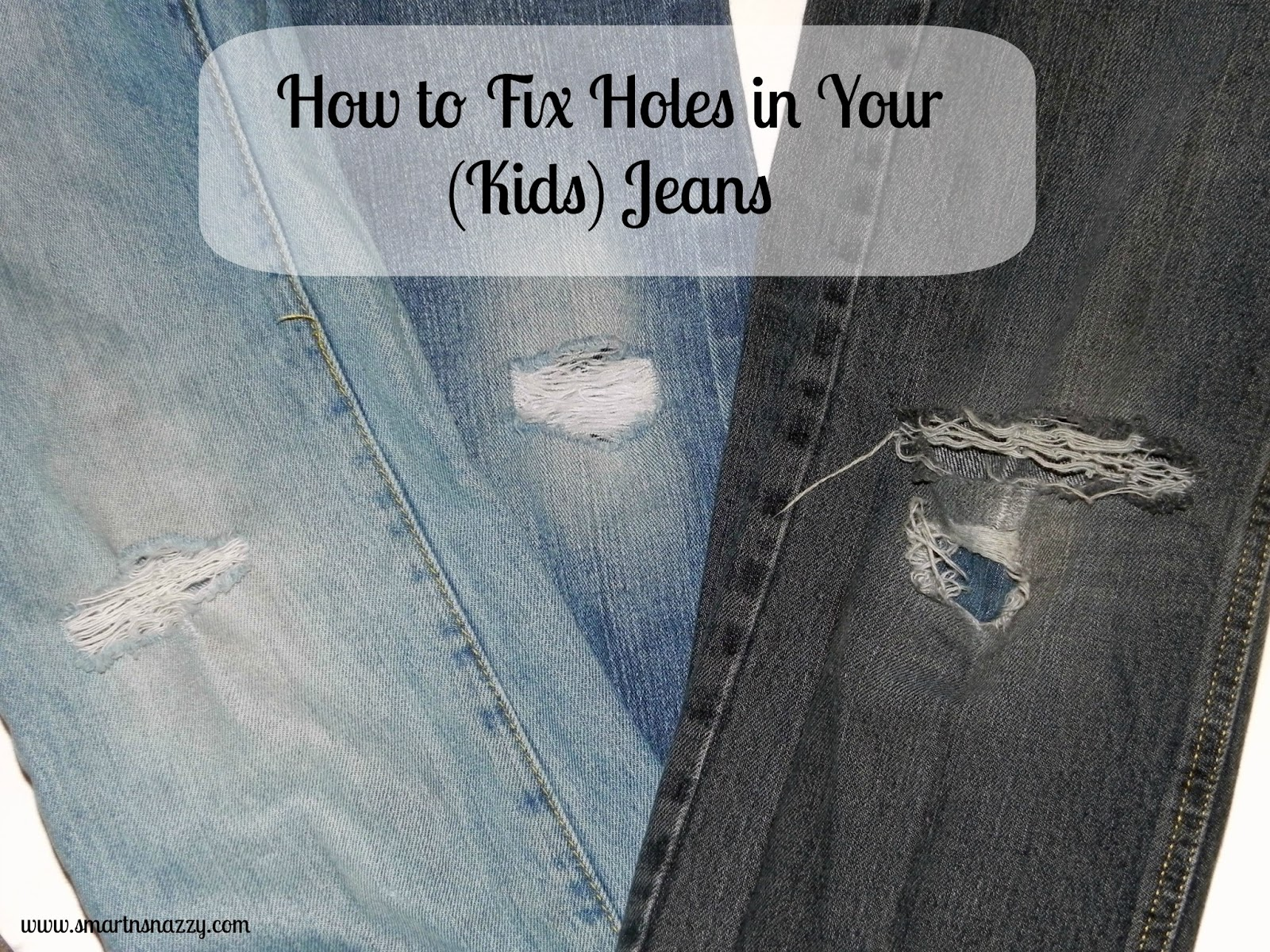 best way to mend ripped jeans