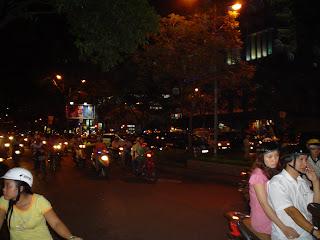 Vietnã Noite Motocicleta