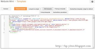 cara mengatasi edit html template blank di blogger