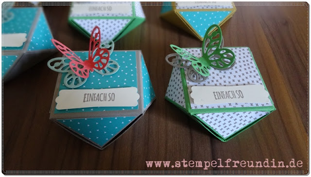www.stempelfreundin.de, Jessika Tschenscher, Stampin Up, Envelope Punch Board, Verpackung, Schmetterling, BigShot