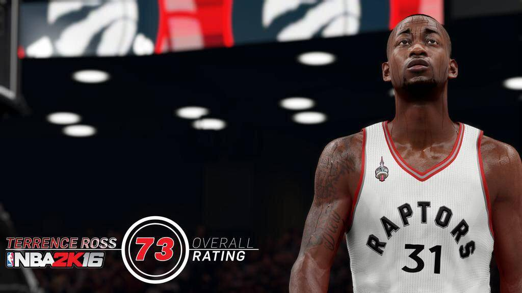 NBA 2k16 : Terrence Ross Rating