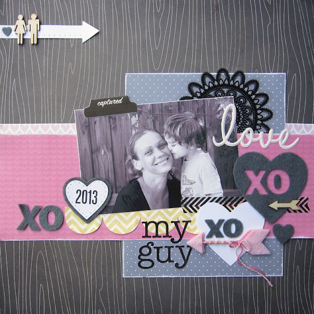 Scrap the Boys Feb challenge by Aga