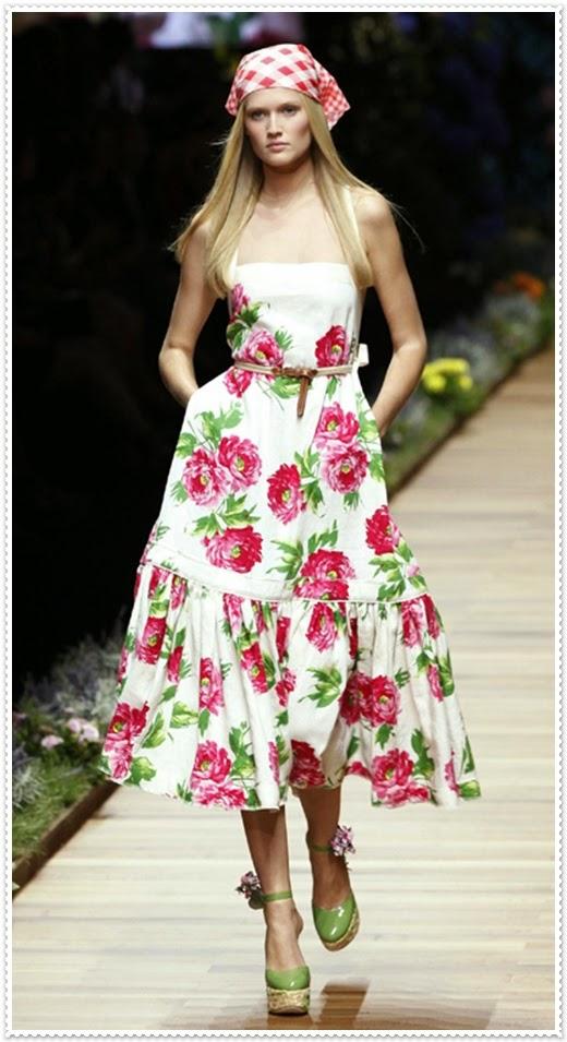 Geblümte Modische Kleider von Deolce&Gabbana