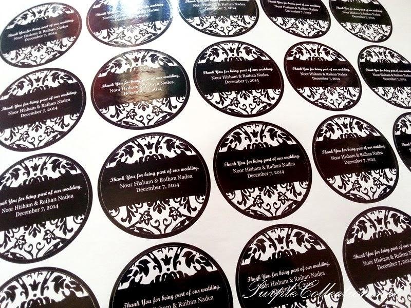 Print sticker wedding tags door gift favour singapore malaysia