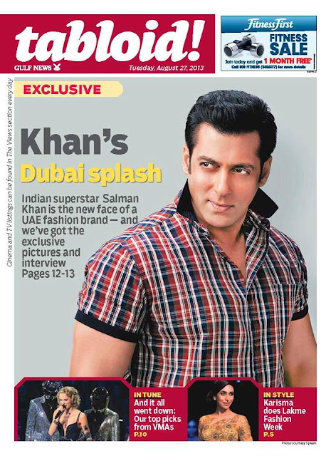 Salman Khan on the cover page of tabloid! magazine