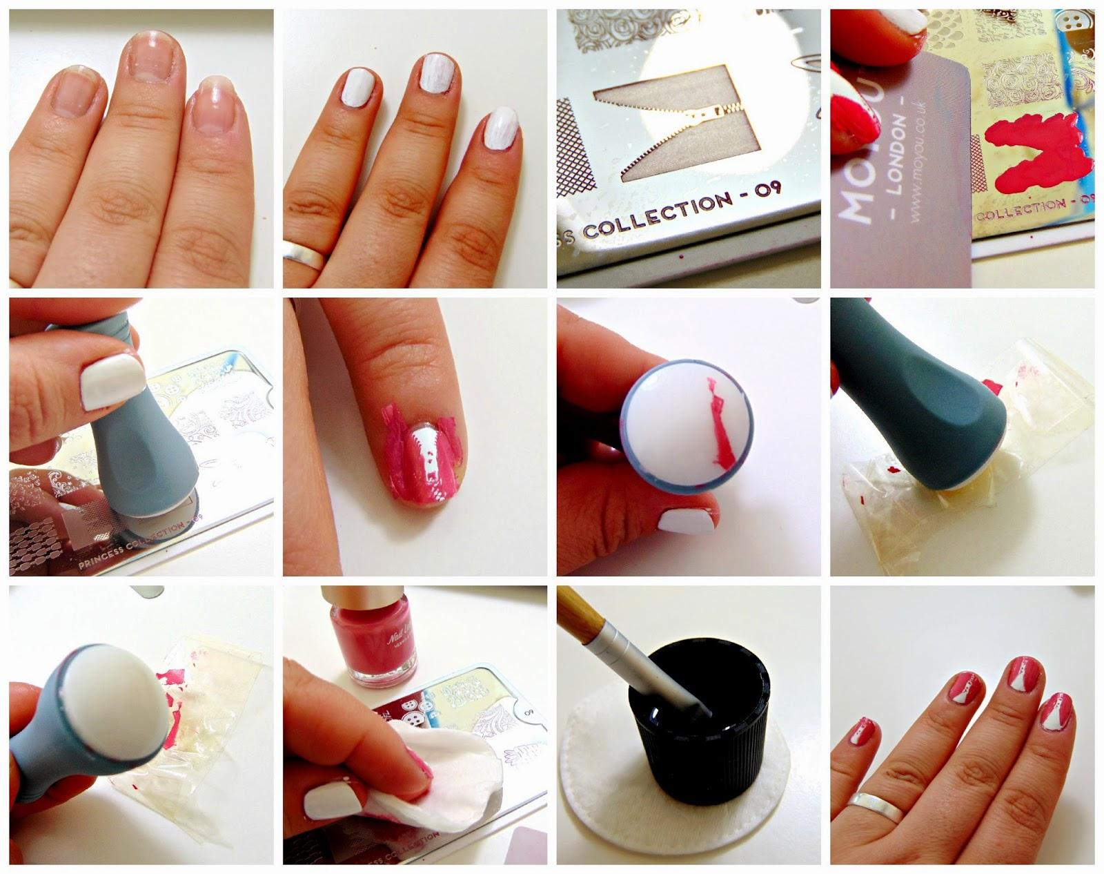 Monday Mani Zipper Nail Stamping With Moyou Chocolate Lipstick