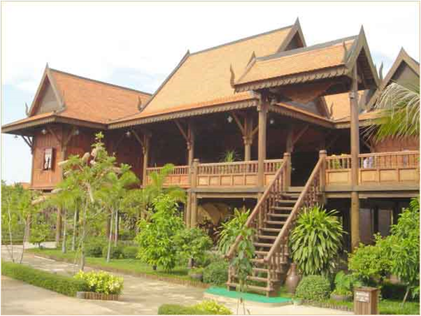 Cambodia myanmar philipine khmer house cambodia for Architecture khmer