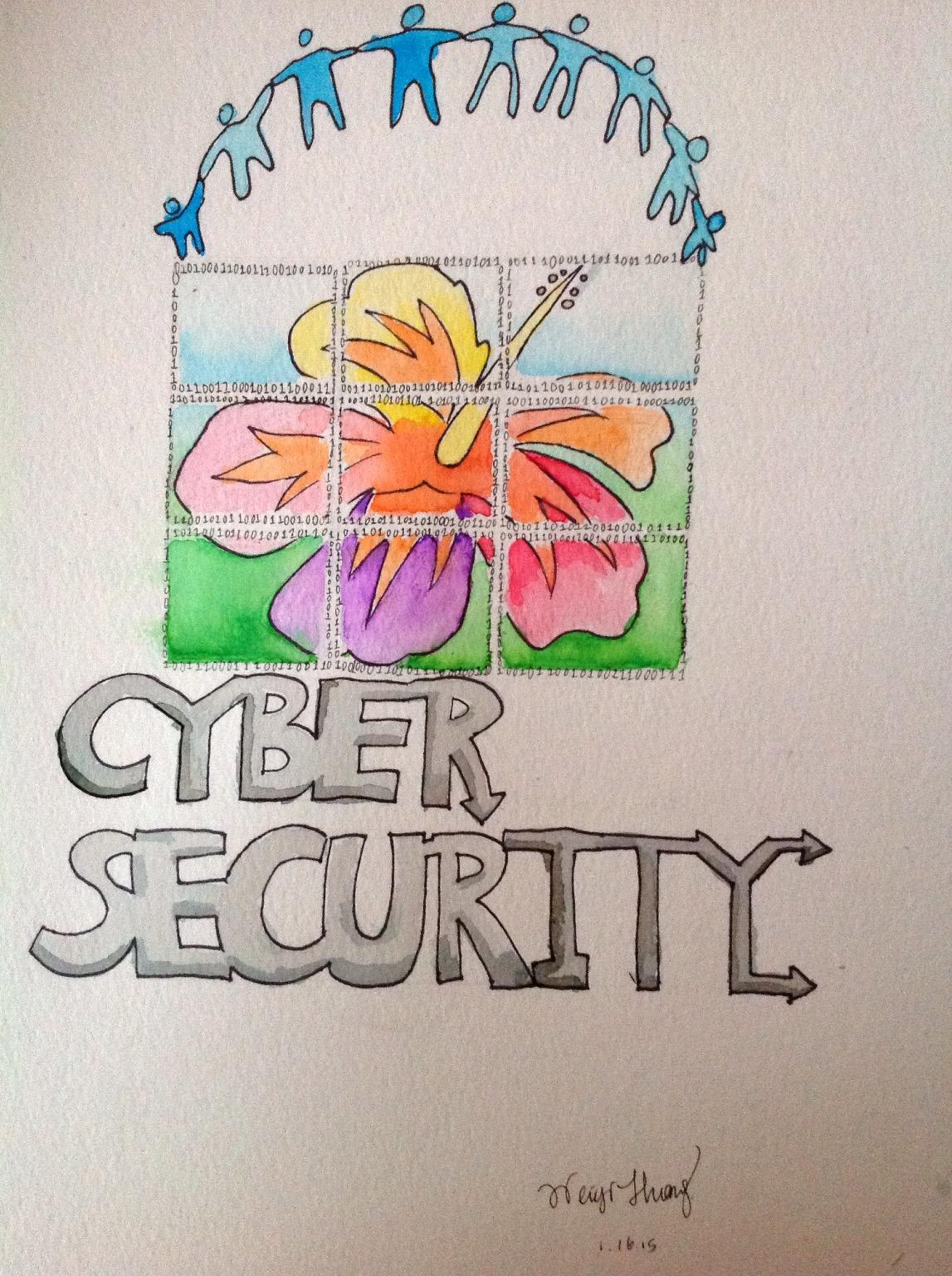 Cyber Hui logo design Chloe Huang