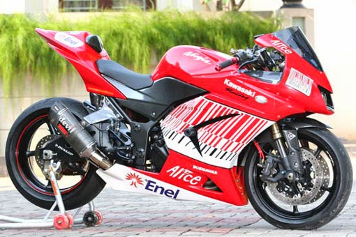 modifikasi new ninja 250 red