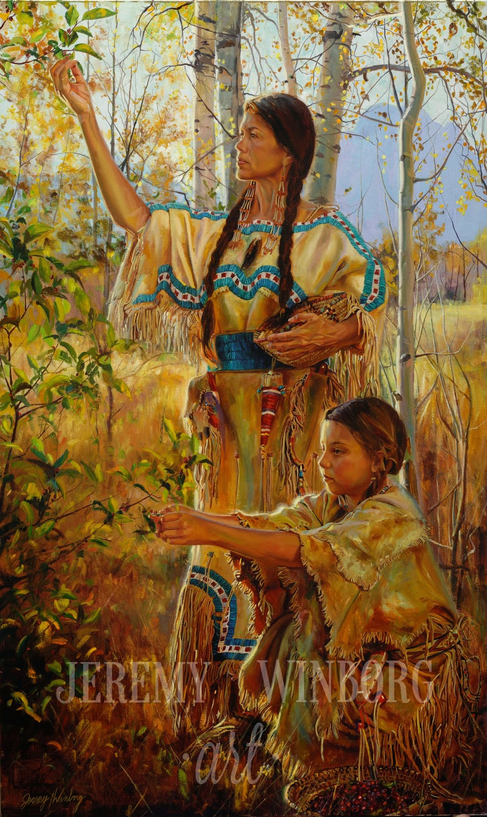American Indian Oil Paintings Native america piece Native American Women Artists
