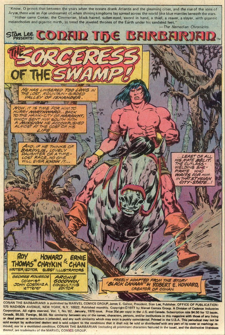 Conan the Barbarian (1970) Issue #82 #94 - English 2